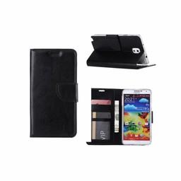 Luxe Lederen Bookcase hoesje voor de Samsung Galaxy Note 3 - Zwart