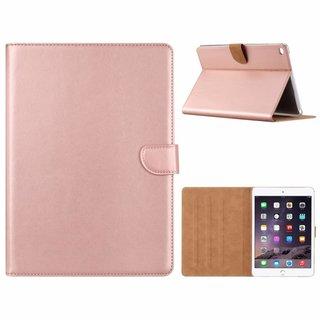Luxe Lederen Standaard hoes voor de Apple iPad Air 2 9.7 inch - Metallic Roze