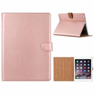 Luxe Lederen Standaard hoes voor de Apple iPad 2/3/4 9.7 inch - Metallic Roze
