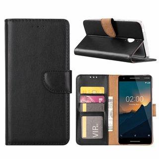 Bookcase Nokia 2.1 hoesje - Zwart