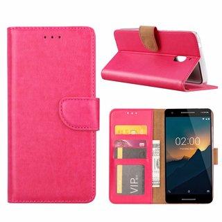 Bookcase Nokia 2.1 hoesje - Roze