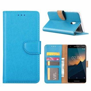Bookcase Nokia 2.1 hoesje - Blauw