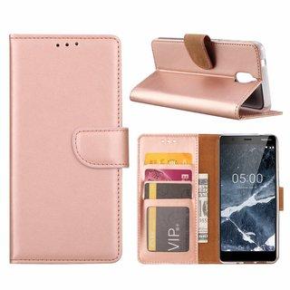 Bookcase Nokia 3.1 hoesje - Rosé Goud