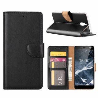 Bookcase Nokia 3.1 hoesje - Zwart