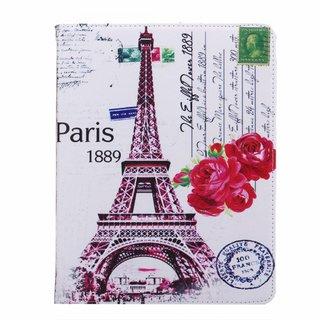 Parijs print lederen roterende hoes voor de Apple iPad 2/3/4 (9.7 inch)