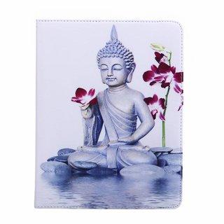 Buddha print lederen roterende hoes voor de Apple iPad 2/3/4 (9.7 inch)