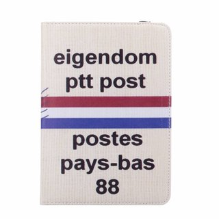 PTT Post print lederen roterende hoes voor de Apple iPad Mini 4 (7.9 inch)