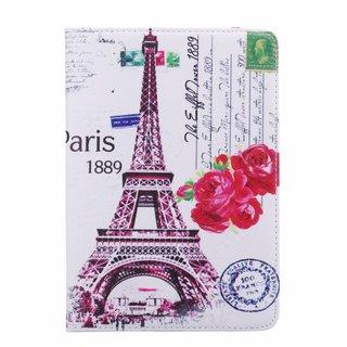 Parijs print lederen roterende hoes voor de Apple iPad Mini 4 (7.9 inch)