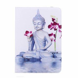 Buddha print lederen roterende hoes voor de Apple iPad Mini 4 (7.9 inch)