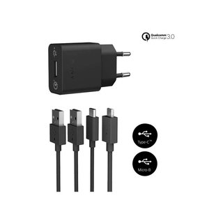 Originele Fast Charging Oplader UCH12 met 1 Meter Type-C & micro-USB kabel