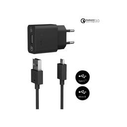 Sony Originele Fast Charging Oplader UCH12 met 1 Meter Micro-USB kabel