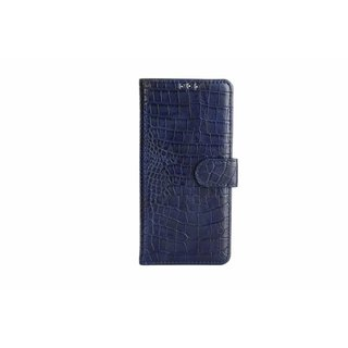 Krokodillen design Lederen Bookcase hoesje voor de Samsung Galaxy S8 - Donkerblauw