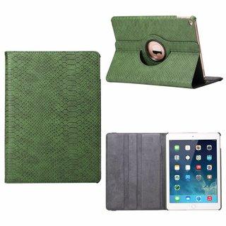 Schubben design Lederen Roterende hoes voor de Apple iPad Air 2 9.7 inch - Smaragdgroen