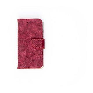Schubben design Lederen Bookcase hoesje voor de Apple iPhone 8 - Bordeauxrood