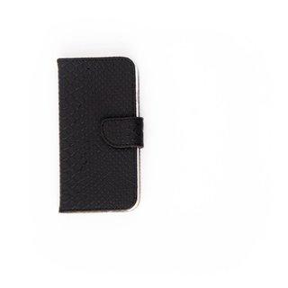 Schubben design Lederen Bookcase hoesje voor de Apple iPhone 8 - Zwart