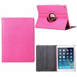 Schubben design Lederen Roterende hoes voor de Apple iPad Air 9.7 inch - Roze