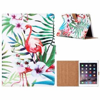 Flamingo print lederen standaard hoes voor de Apple iPad 2/3/4 (9.7 inch) - Wit
