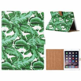 Planten print lederen standaard hoes voor de Apple iPad 2/3/4 (9.7 inch) - Wit