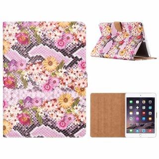 Slangen en Bloemen print lederen standaard hoes voor de Apple iPad Air (9.7 inch) - alle kleuren