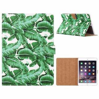 Planten print lederen standaard hoes voor de Apple iPad Air (9.7 inch) - Wit