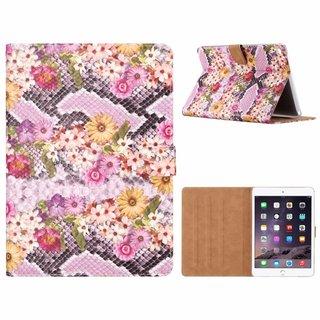 Slangen en Bloemen print lederen standaard hoes voor de Apple iPad Air 2 (9.7 inch) - alle kleuren