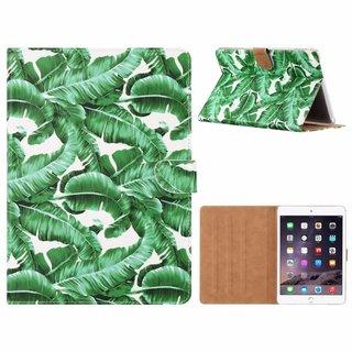 Planten print lederen standaard hoes voor de Apple iPad Air 2 (9.7 inch) - Wit