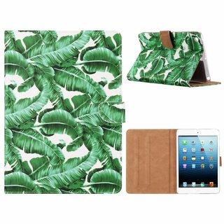 Planten print lederen standaard hoes voor de Apple iPad Mini 1/2/3 (7.9 inch) - Wit
