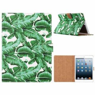 Planten print lederen standaard hoes voor de Apple iPad 2017/2018 (9.7 inch) - Wit