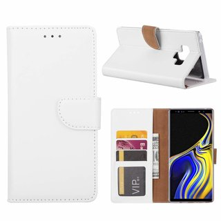 Bookcase Samsung Galaxy Note 9 hoesje - Wit