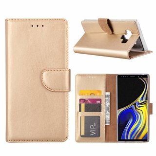 Bookcase Samsung Galaxy Note 9 hoesje - Goud