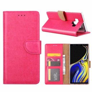 Luxe Lederen Bookcase hoesje voor de Samsung Galaxy Note 9 - Roze