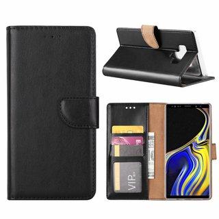 Luxe Lederen Bookcase hoesje voor de Samsung Galaxy Note 9 - Zwart