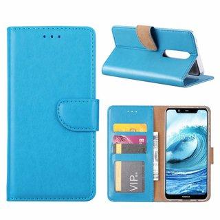 Bookcase Nokia 5.1 Plus hoesje - Blauw
