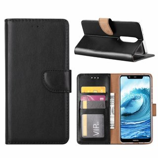 Bookcase Nokia 5.1 Plus hoesje - Zwart