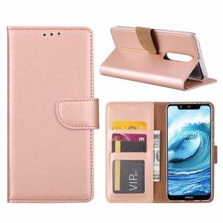 Bookcase Nokia 5.1 Plus hoesje - Rosé Goud