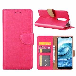 Bookcase Nokia 5.1 Plus hoesje - Roze