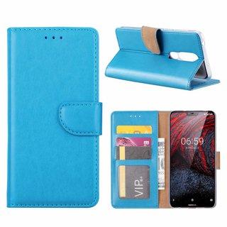 Bookcase Nokia 6.1 Plus hoesje - Blauw