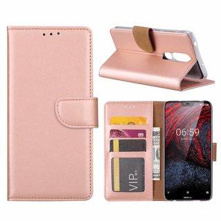 Bookcase Nokia 6.1 Plus hoesje - Rosé Goud