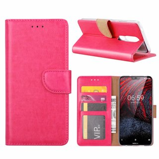 Bookcase Nokia 6.1 Plus hoesje - Roze