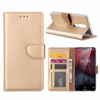 Bookcase Nokia 6.1 Plus hoesje - Goud