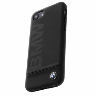 Originele Signature Debossed Logo Folio Back Cover Hoesje voor de Apple iPhone 6 / 6S / 7 / 8 - Zwart