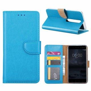 Bookcase Nokia 6.1 hoesje - Blauw