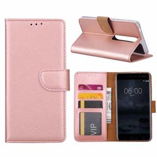 Bookcase Nokia 6.1 hoesje - Rosé Goud