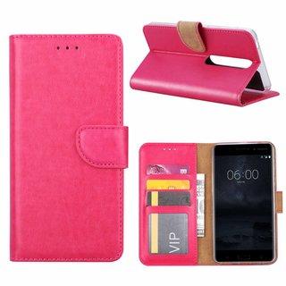 Bookcase Nokia 6.1 hoesje - Roze