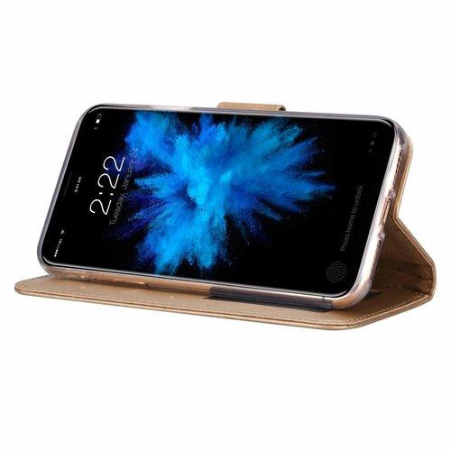 Bookcase Apple iPhone XS hoesje - Goud