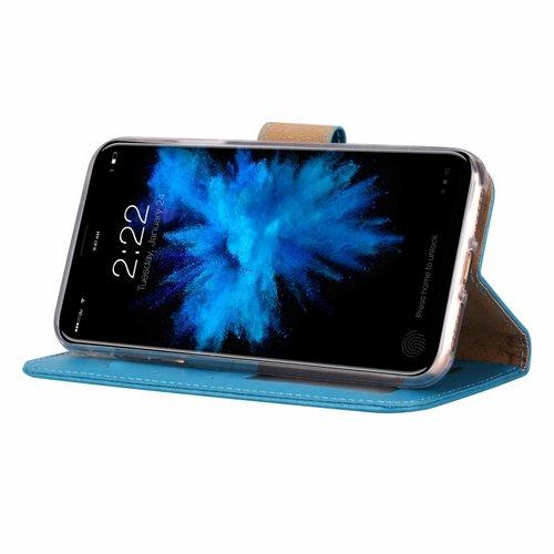 Bookcase Apple iPhone XS hoesje - Blauw