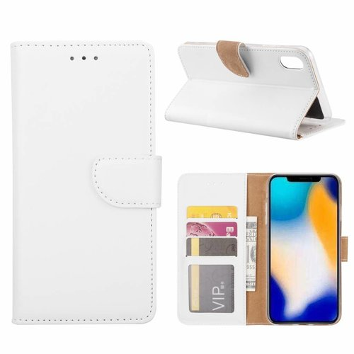 Bookcase Apple iPhone XS Max hoesje - Wit