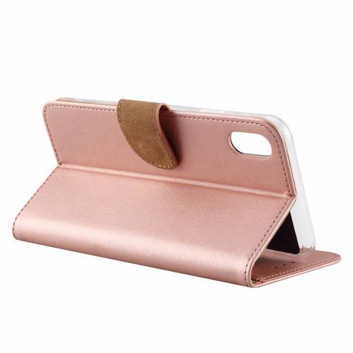 Bookcase Apple iPhone XS Max hoesje - Rosé Goud