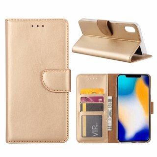 Bookcase Apple iPhone XS Max hoesje - Goud