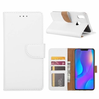 Bookcase Huawei P Smart Plus hoesje - Wit